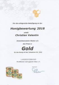 Sommerhonig Gold 2018
